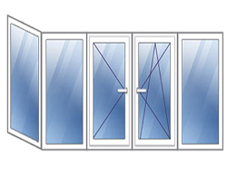 Г-образный балкон остекление