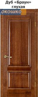 Дверь терминус классик модель 04 глухая дуб браун