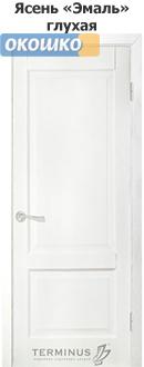 дверь терминус классик модель 04 глухая белый ясень эмаль