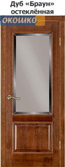 дверь терминус классик модель 04 остекленная дуб браун