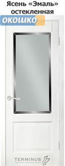дверь терминус классик модель 04 стекло белый ясень эмаль