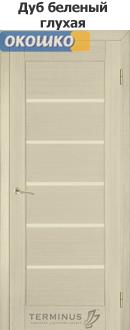 дверь терминус серия хай тек модель 37 беленый дуб глухая