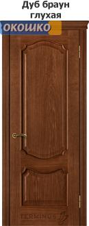 дверь терминус модель 41 серия каро цветдуб браун глухая