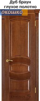 дверь терминус каро модель 50 дуб браун глухая