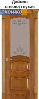 дверь терминус модель 50 серия каро цвет даймон стекло/глухая вставка