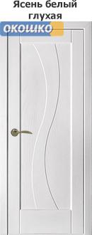дверь терминус модерн модель 15 ясень белый глухая