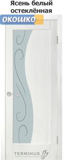 дверь терминус модерн модель 16 стекло белый ясень